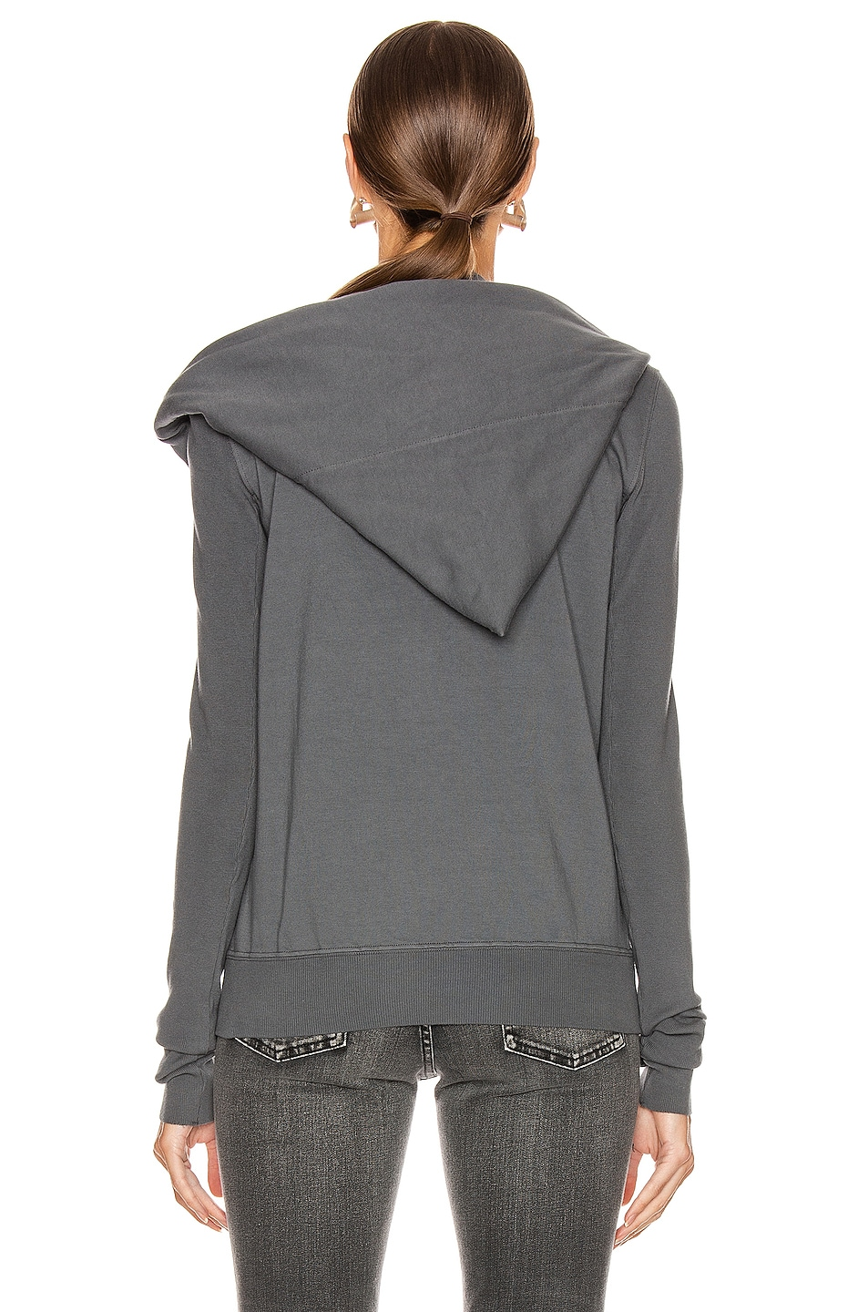 Image 4 of DRKSHDW by Rick Owens Mountain Hoodie in Flint