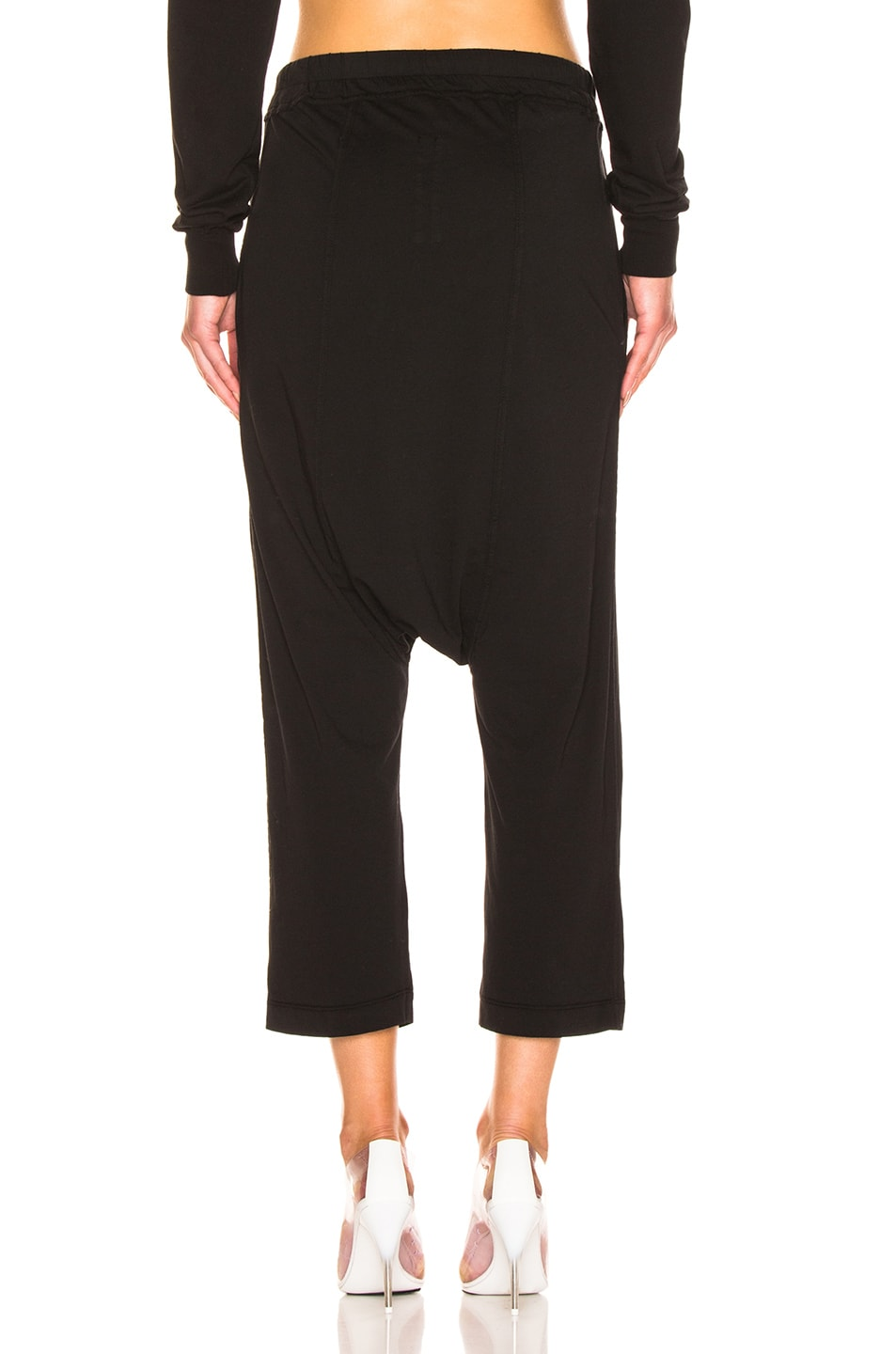 Image 3 of DRKSHDW by Rick Owens Drawstring Cropped Pant in Black