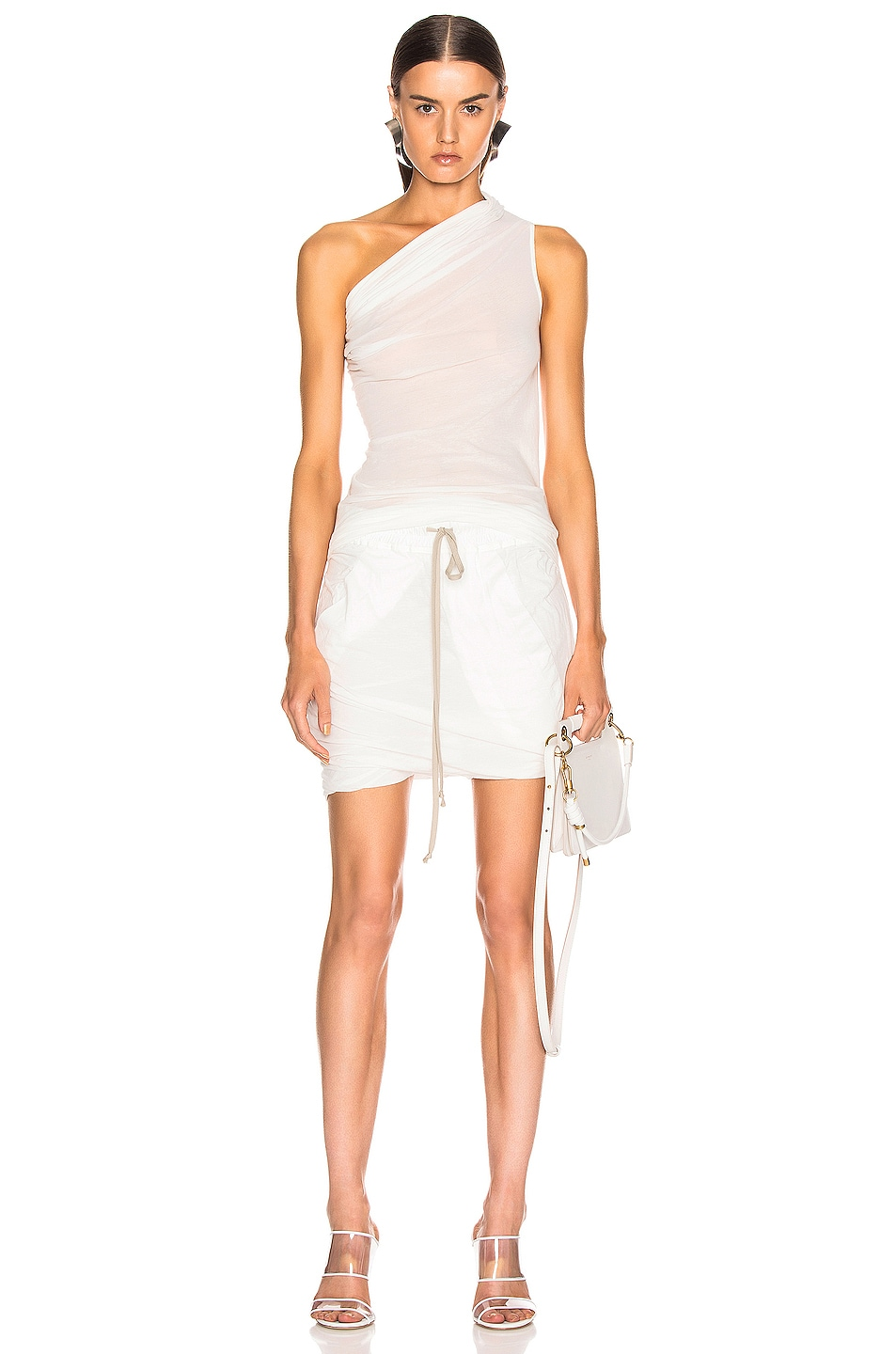 Image 4 of DRKSHDW by Rick Owens Buds Skirt in Milk