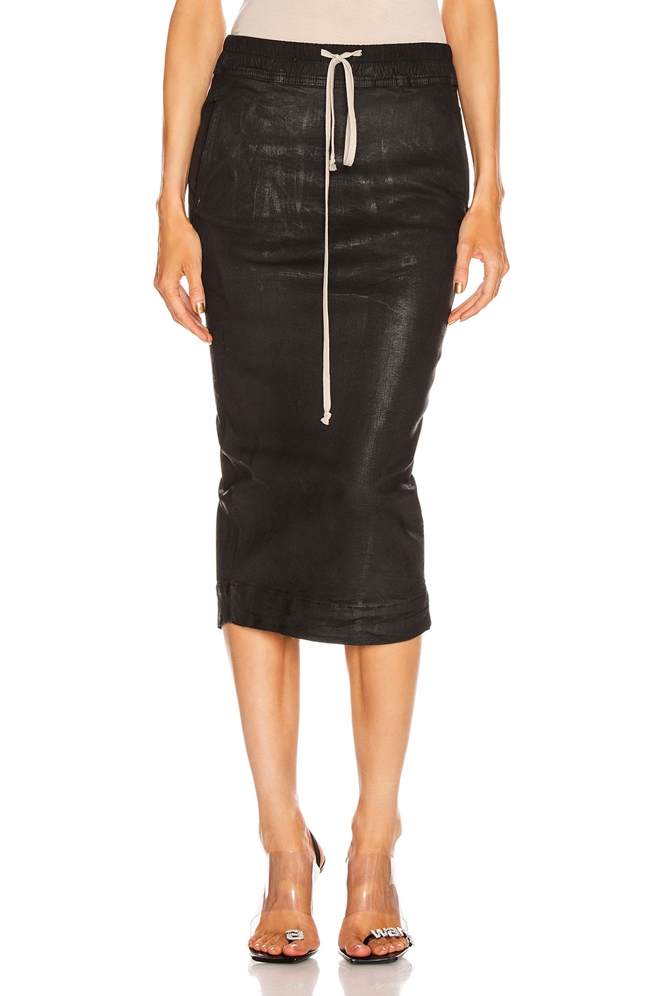 Image 1 of DRKSHDW by Rick Owens Soft Pillar Skirt in Black