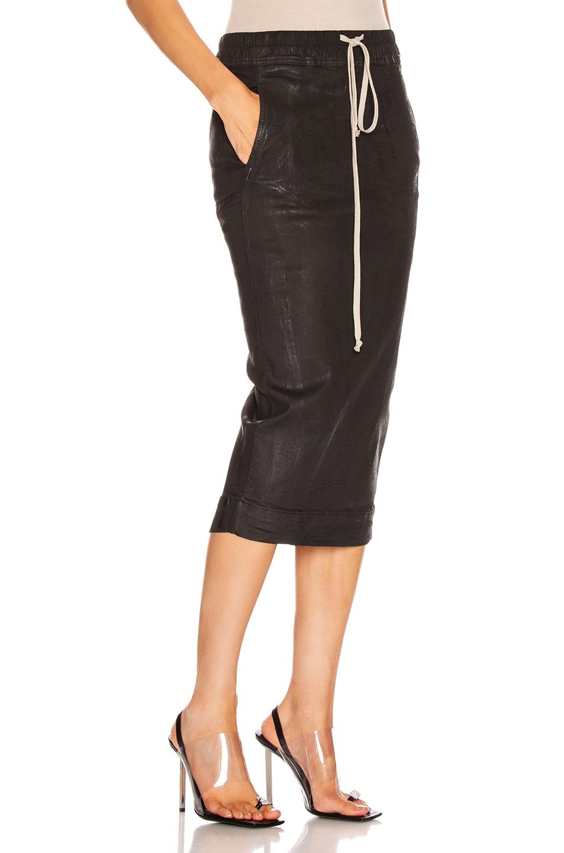 Image 2 of DRKSHDW by Rick Owens Soft Pillar Skirt in Black