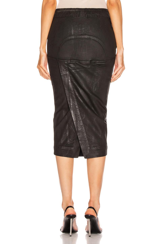 Image 3 of DRKSHDW by Rick Owens Soft Pillar Skirt in Black