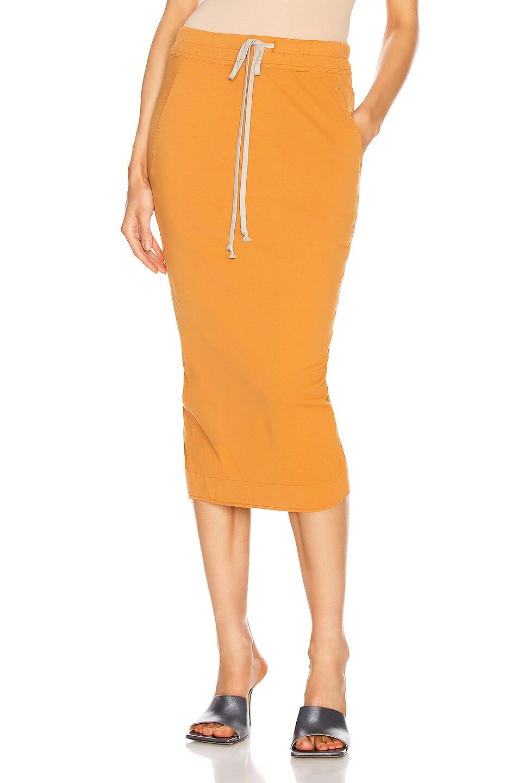 Image 1 of DRKSHDW by Rick Owens Soft Pillar Skirt in Tangerine