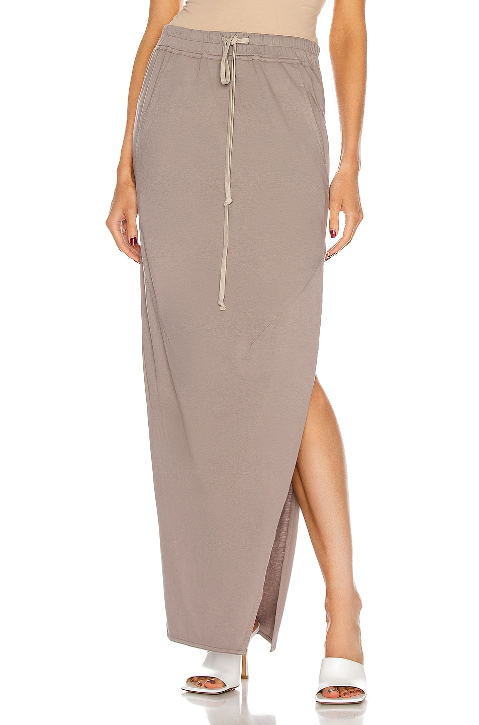 Image 1 of DRKSHDW by Rick Owens Dirt Skirt in Putty
