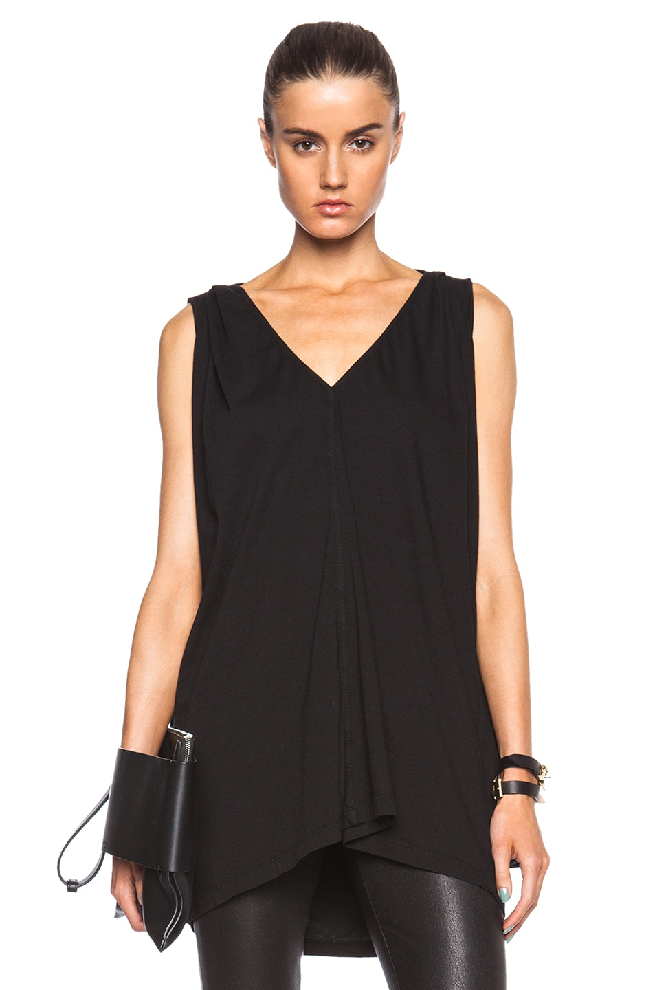 Image 1 of DRKSHDW by Rick Owens Caped Top in Black
