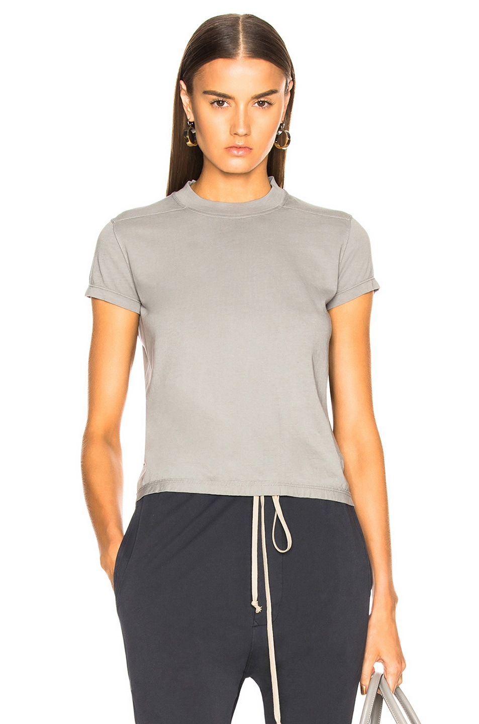 DRKSHDW by Rick Owens Small Level Tee in Gray