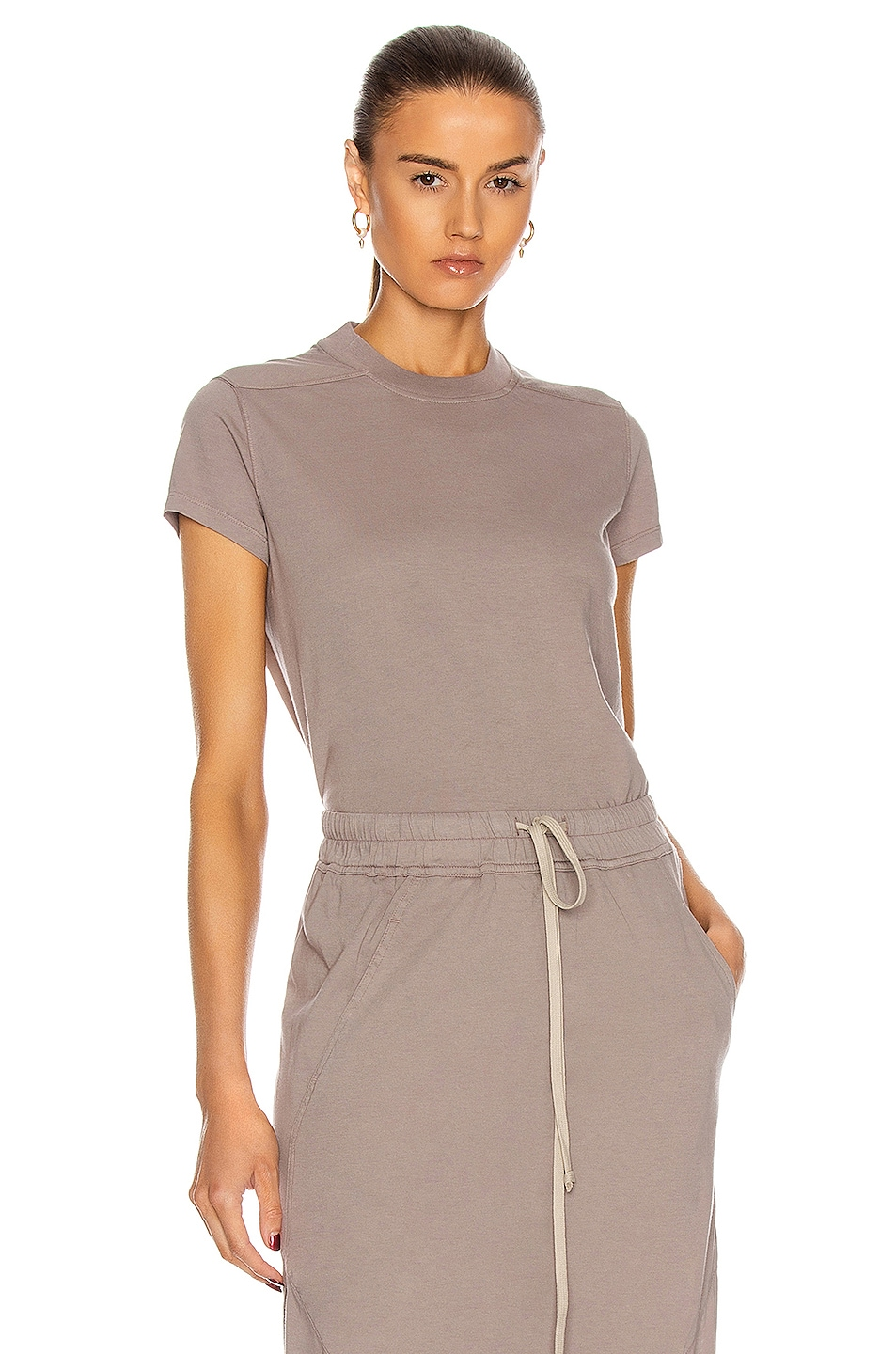 Image 1 of DRKSHDW by Rick Owens Small Level Tee in Putty