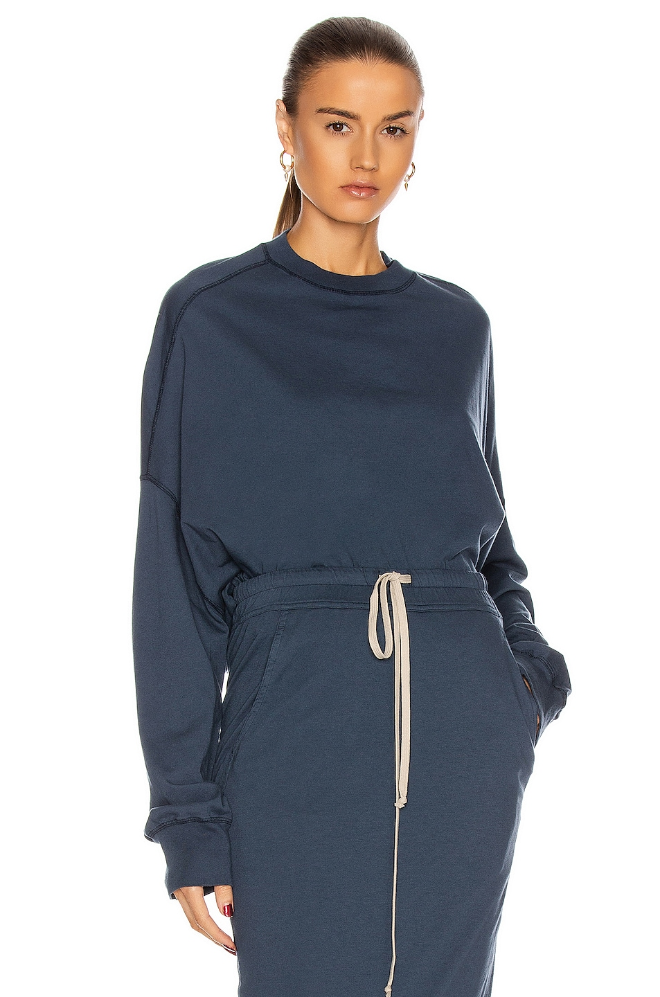 Image 1 of DRKSHDW by Rick Owens Oversized Surf Top in Mute