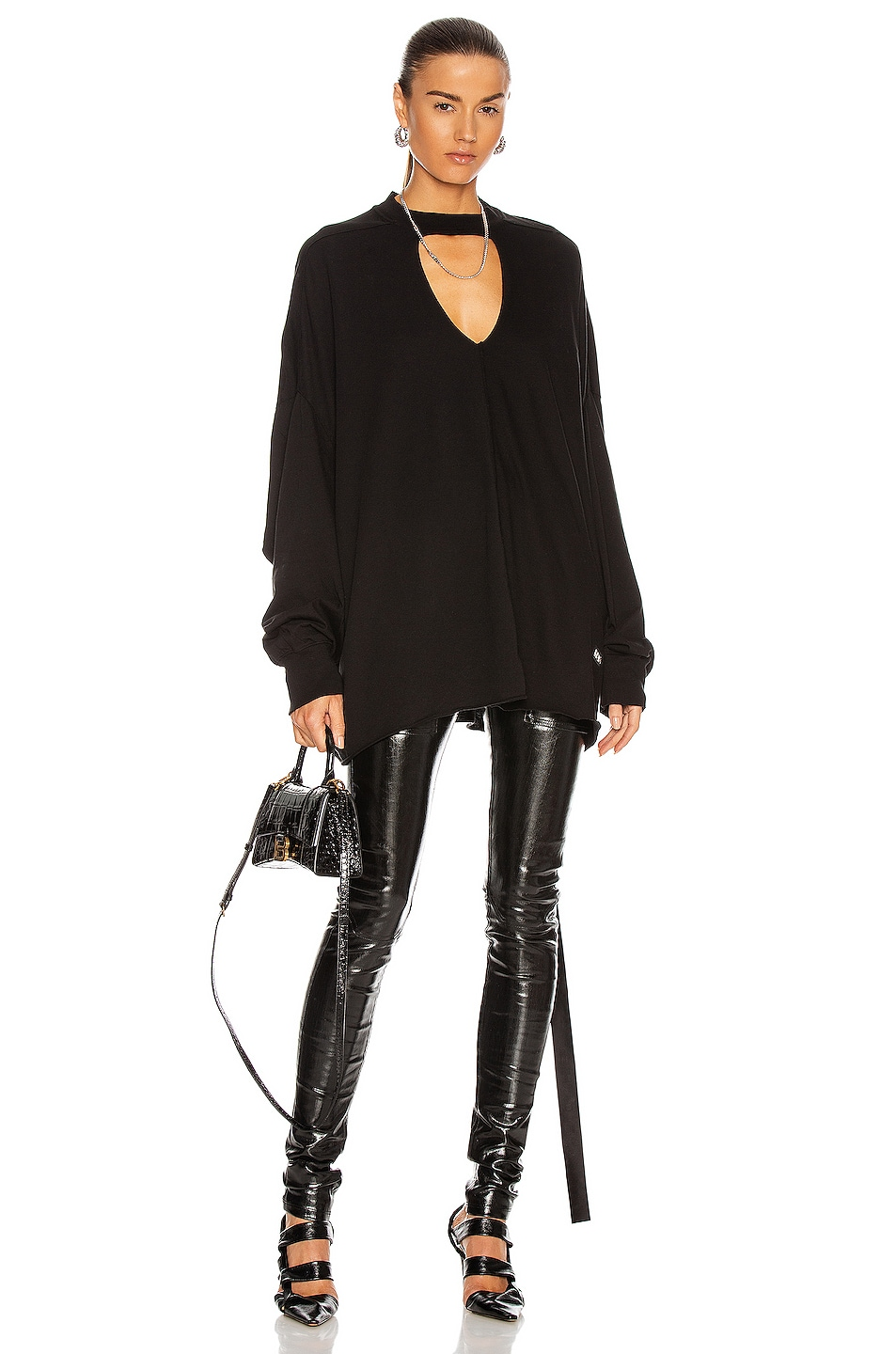 Image 1 of DRKSHDW by Rick Owens Eclipse Top in Black