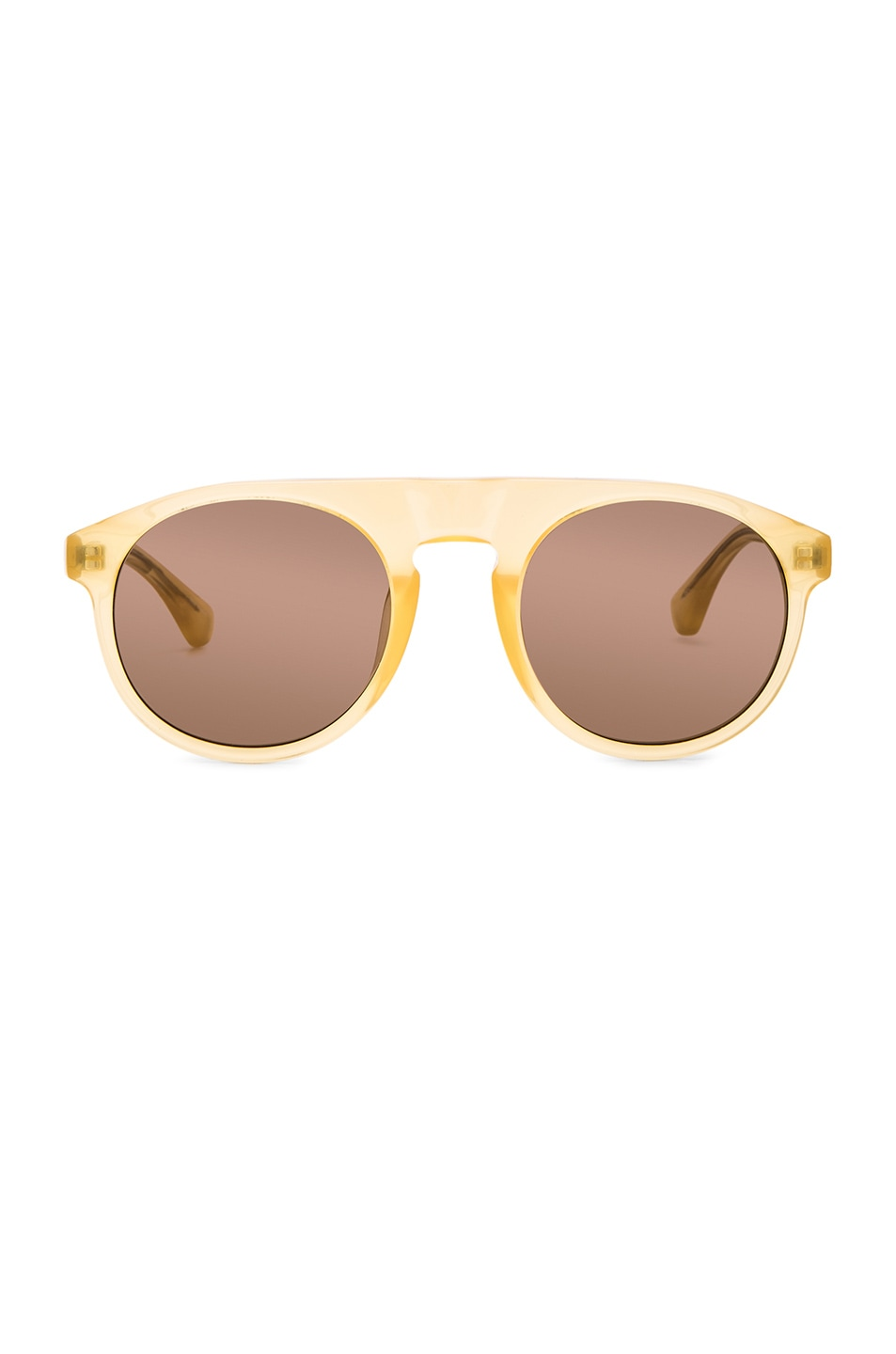 Image 1 of Dries Van Noten Sunglasses in Gold
