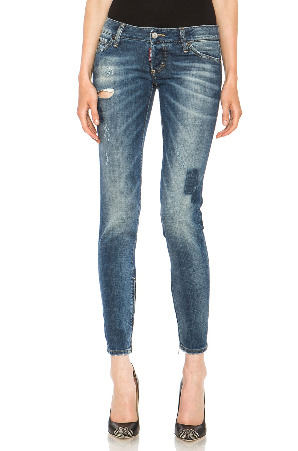 Image 1 of DSQUARED Skinny Jean in Shadow Patch