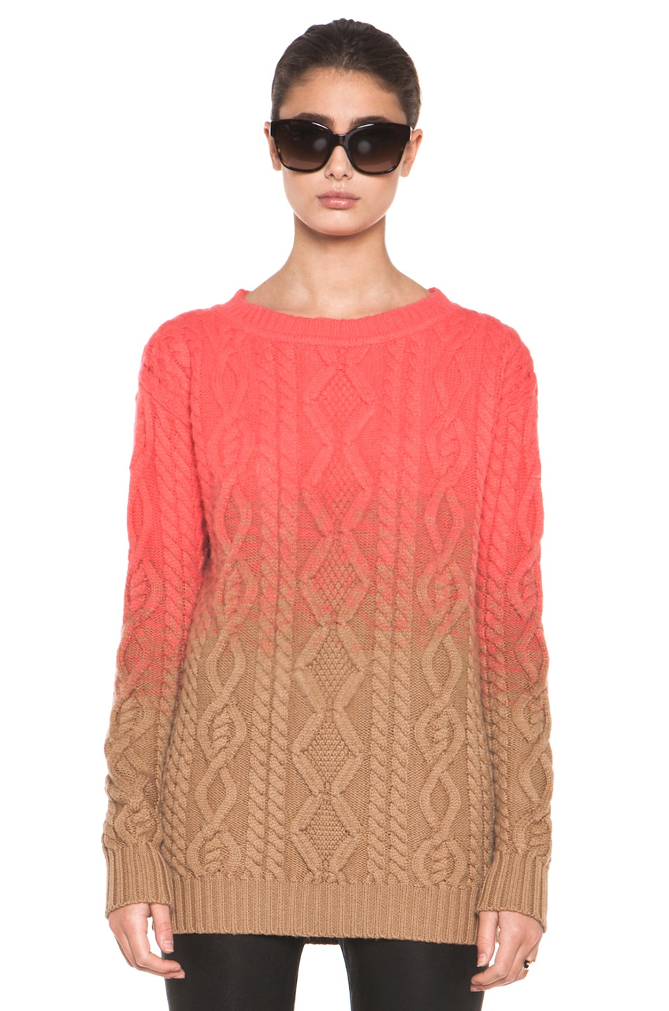 Image 1 of DSQUARED Chunky Knit Pullover in Coral