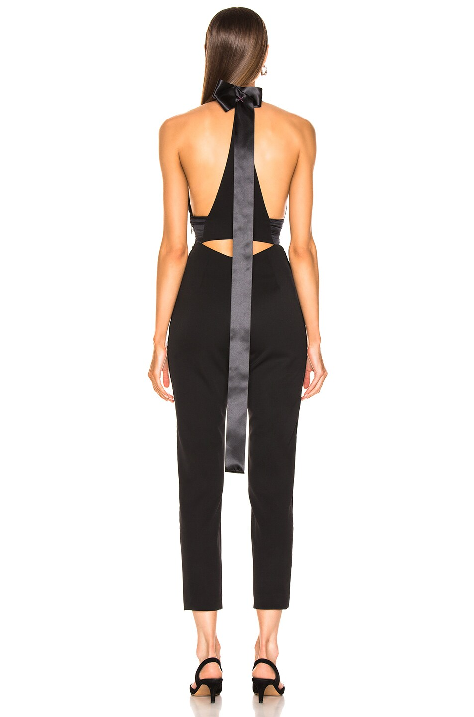 Image 3 of Dundas Plunging Jumpsuit in Black