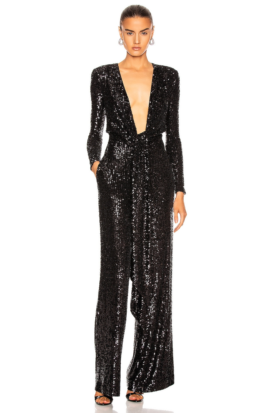 Image 1 of Dundas Long Sleeve Jumpsuit in Black