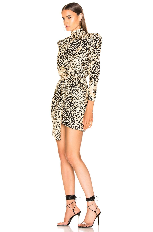 Image 3 of Dundas Gilded Leopard Print Dress in Leopard & Gold
