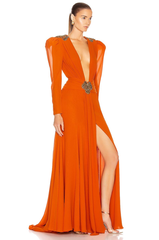 Image 2 of Dundas Embellished Dress in Orange