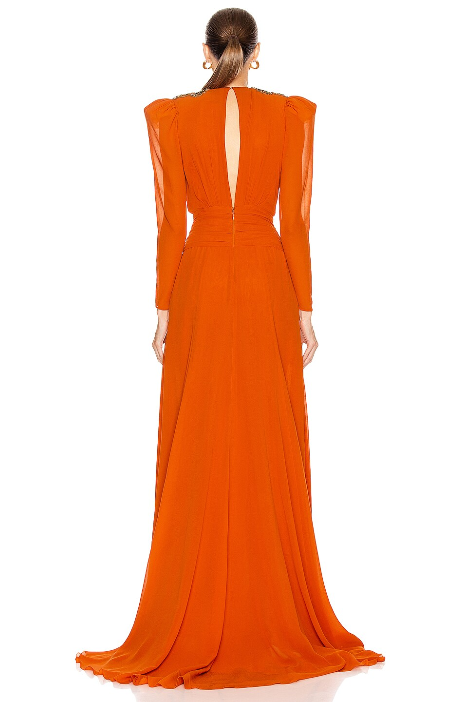 Image 4 of Dundas Embellished Dress in Orange