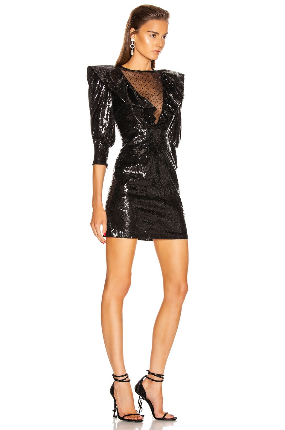 Image 2 of Dundas Sequin Mini Dress in Black