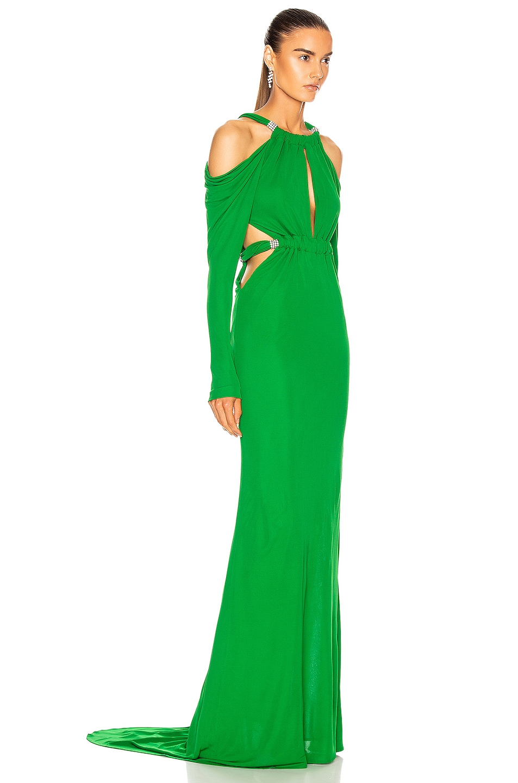 Image 2 of Dundas Cutout Long Sleeve Dress in Emerald