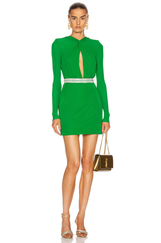 Image 1 of Dundas Keyhole Mini Dress in Emerald