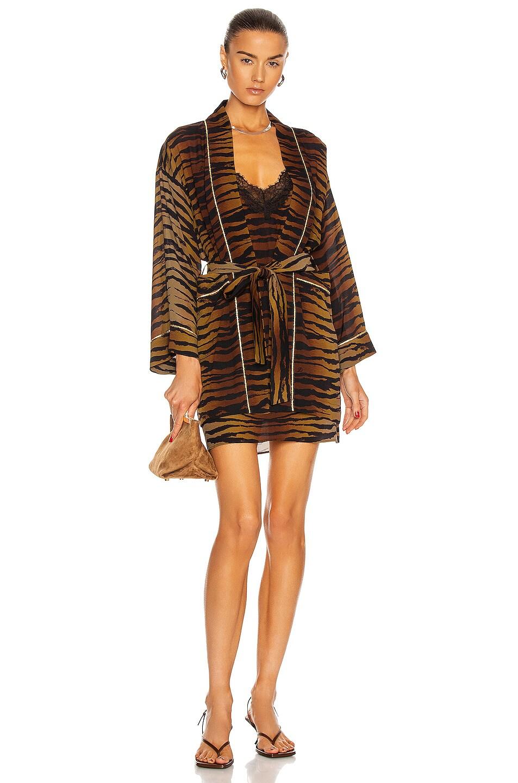 Image 1 of Dundas Wallie Kimono in Tiger