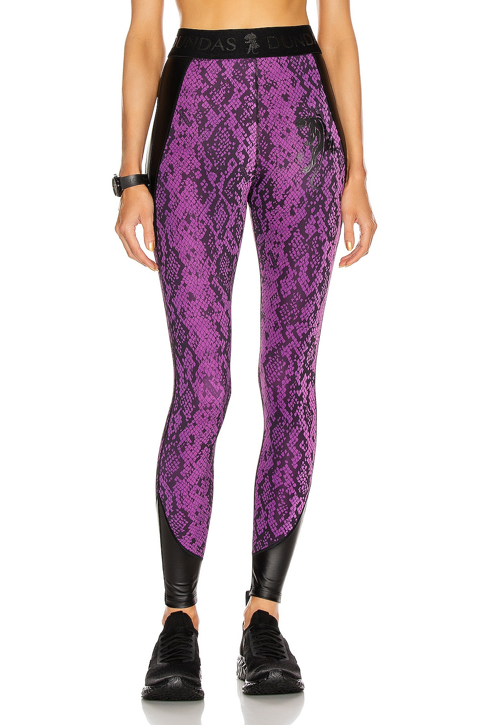 Image 1 of Dundas for FWRD Legging in Purple & Black Python Print