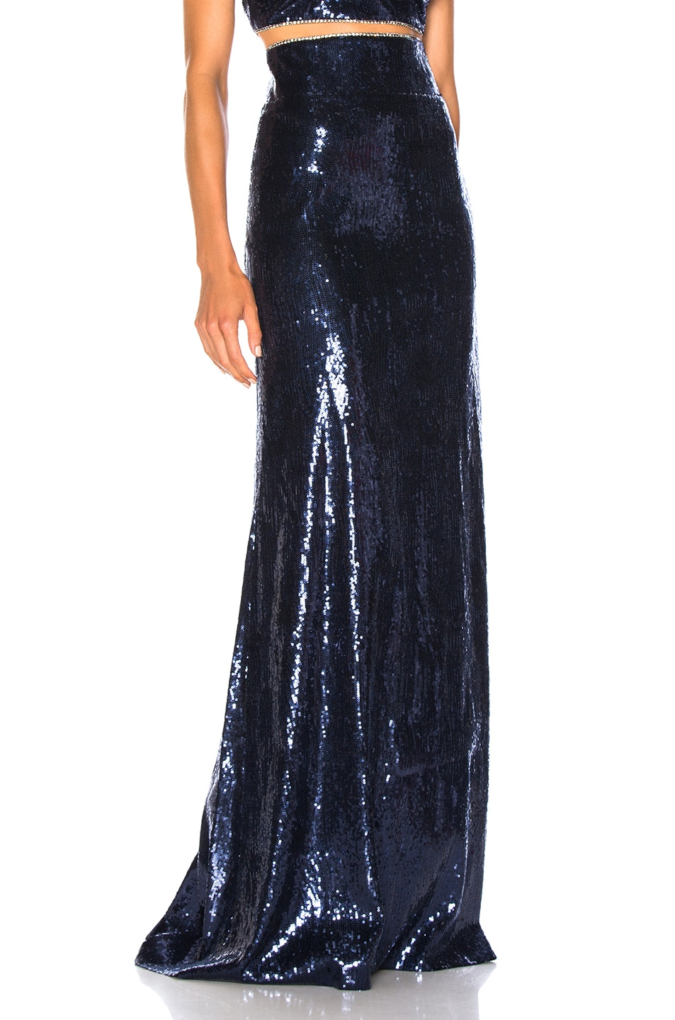 Image 2 of Dundas Sequin Maxi Skirt in Shadow Blue