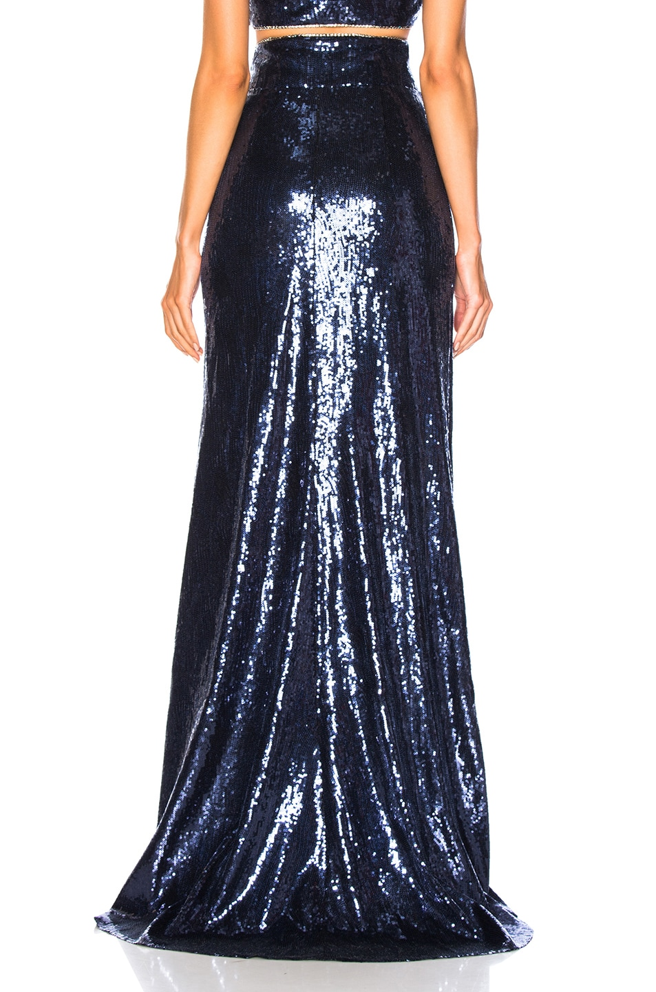 Image 3 of Dundas Sequin Maxi Skirt in Shadow Blue