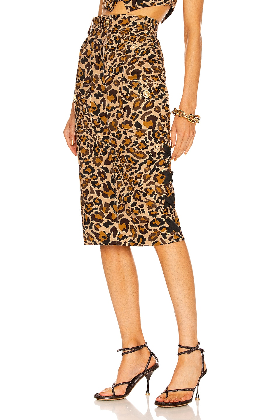 Image 1 of Dundas Ryder Skirt in Graphic Leopard