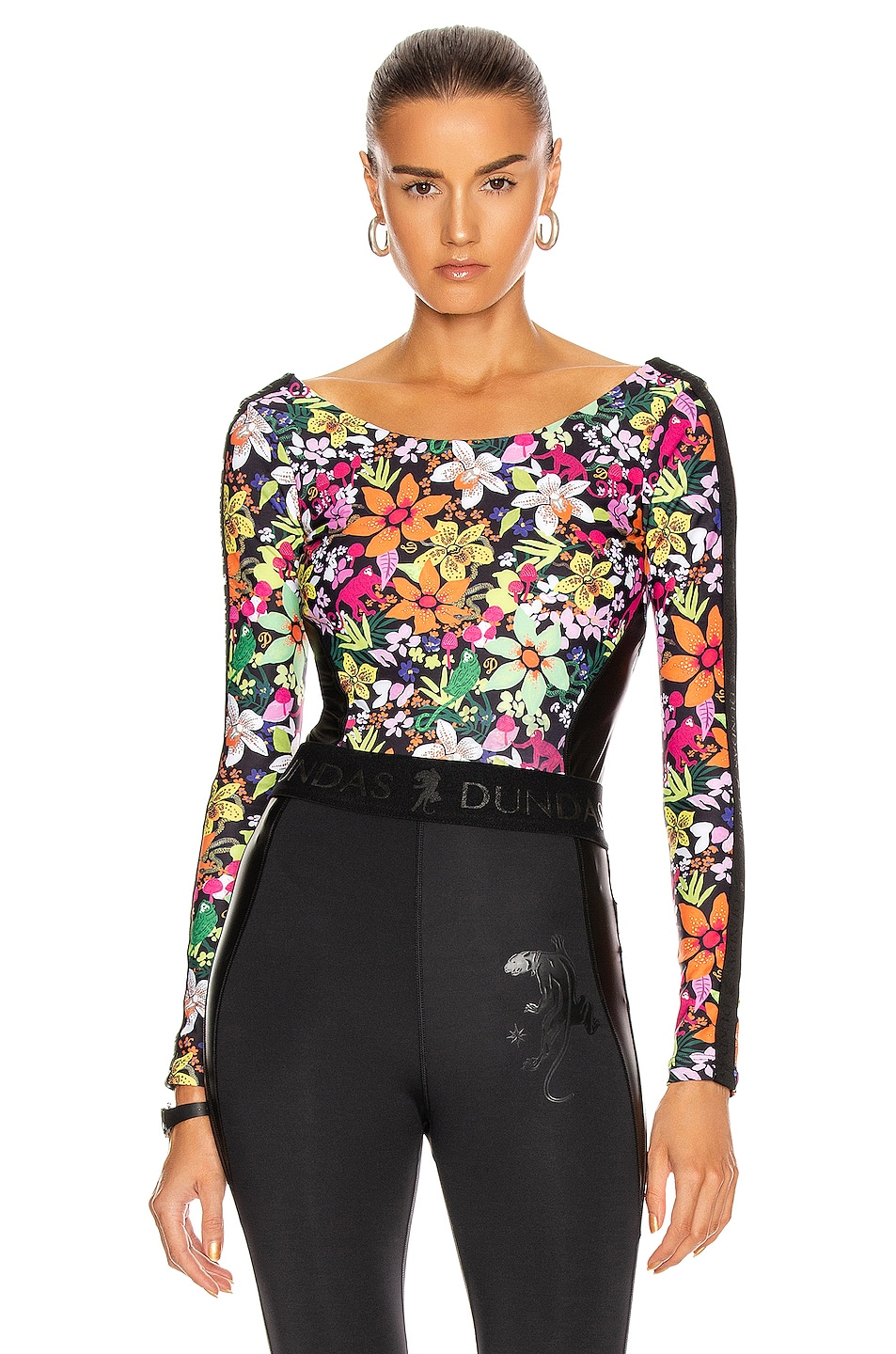 Image 1 of Dundas for FWRD Bodysuit in Floral Print