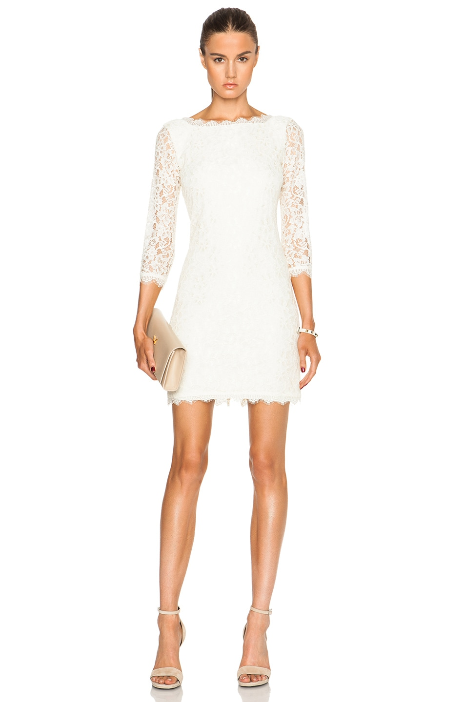 Diane von Furstenberg Zarita Dress in Ivory | FWRD