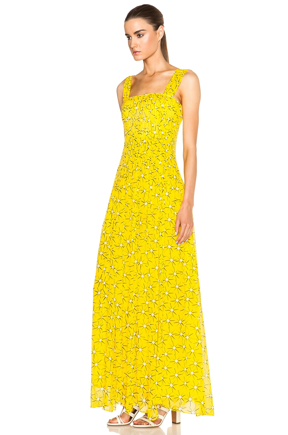 Image 2 Of Diane Von Furstenberg Lillie Chiffon Dress In Sunlight Yellow