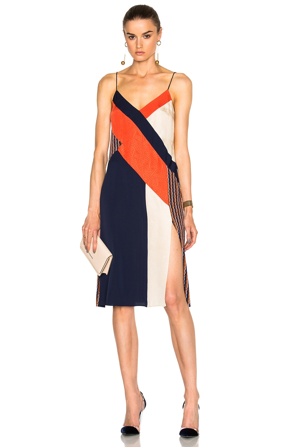 Diane von Furstenberg Frederica Slip Dress in Rick Rack Khaki ...