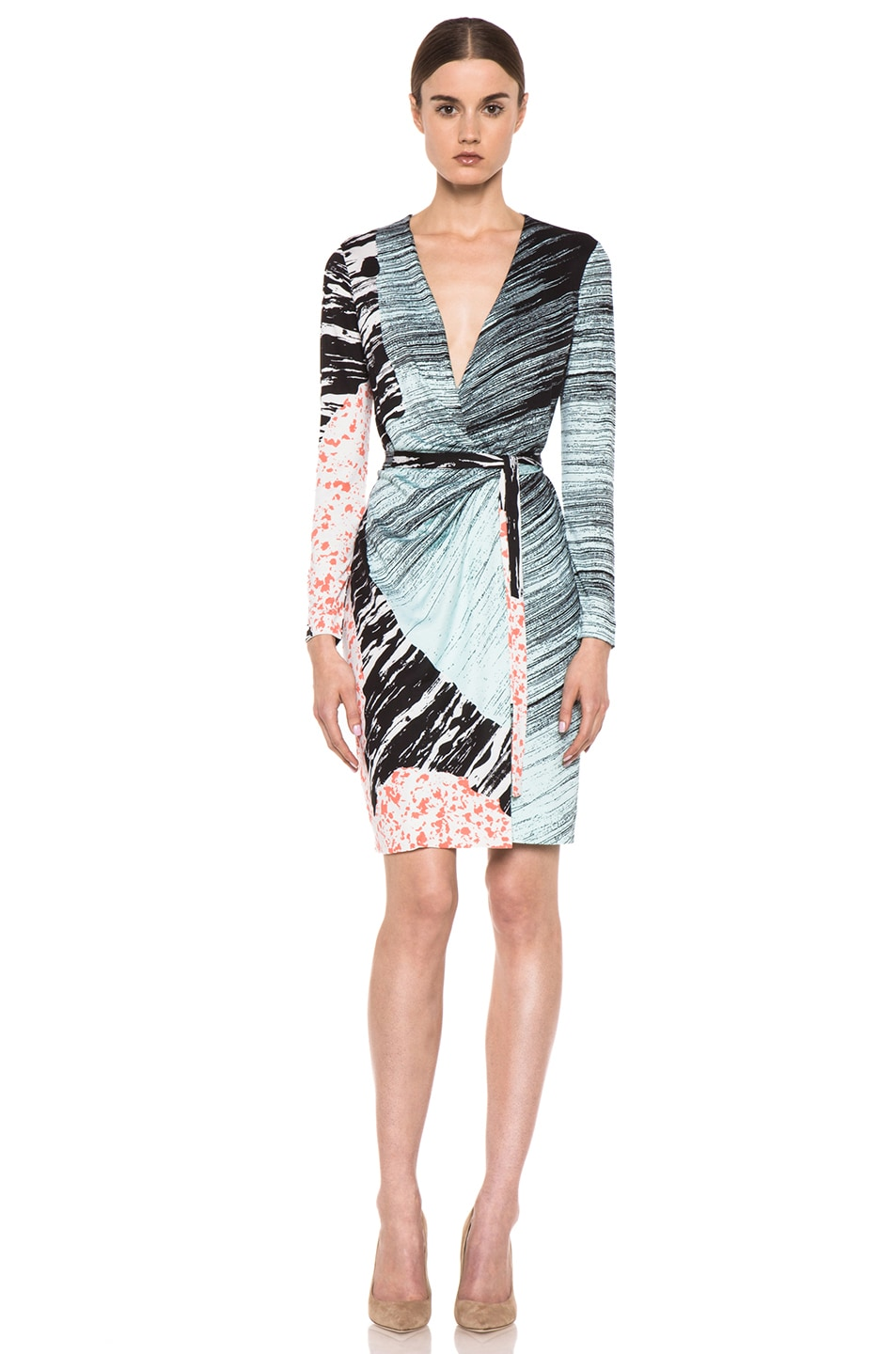Image 1 of Diane von Furstenberg Valencia Dress in Rockscape