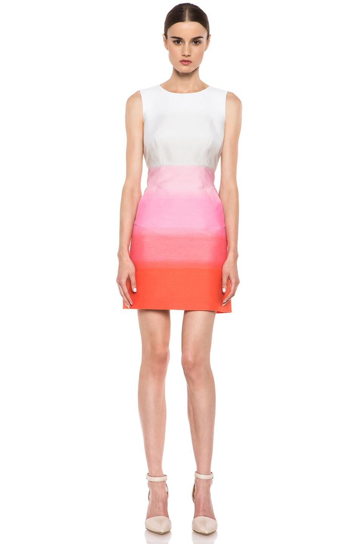 Image 1 of Diane von Furstenberg Carpreena Two Grad Stripe Dress in Pink Multi