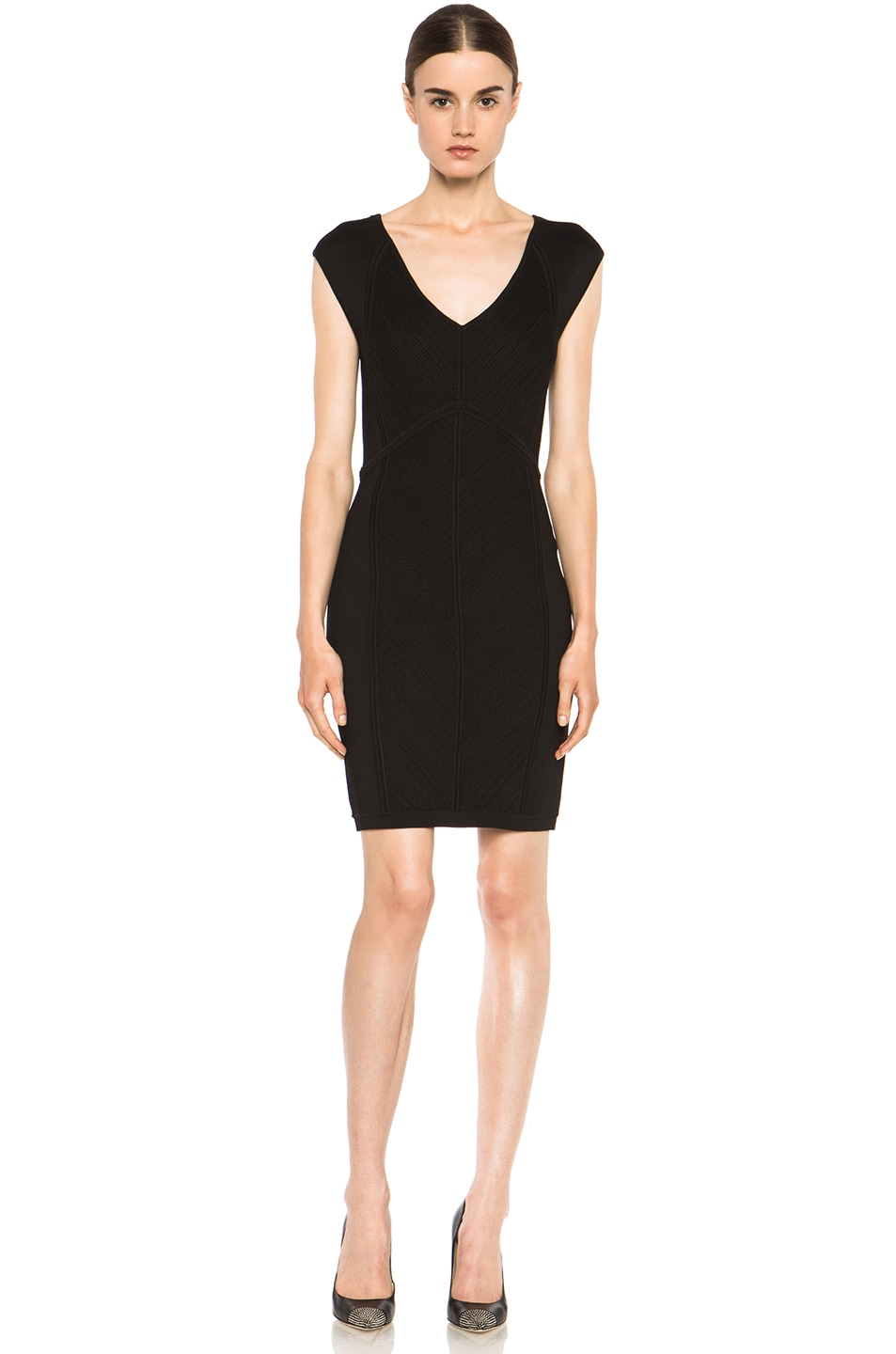 Image 1 of Diane von Furstenberg Cressida Knit Dress in Black