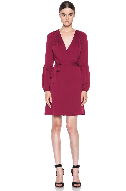 Image 1 of Diane von Furstenberg Weslee Silk Dress in Dark Cherry