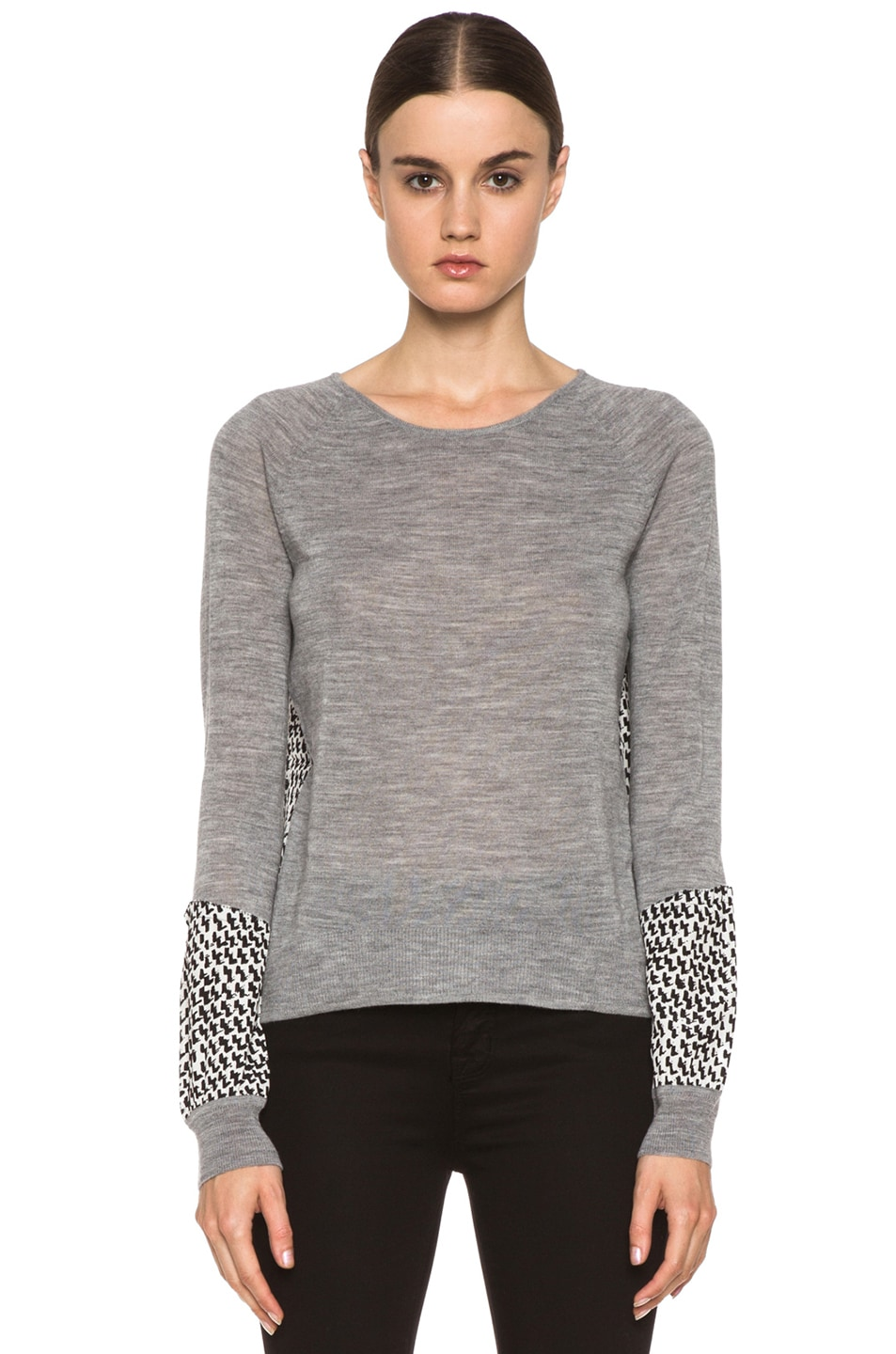 Image 1 of Diane von Furstenberg Austine Print Sweater in Granite