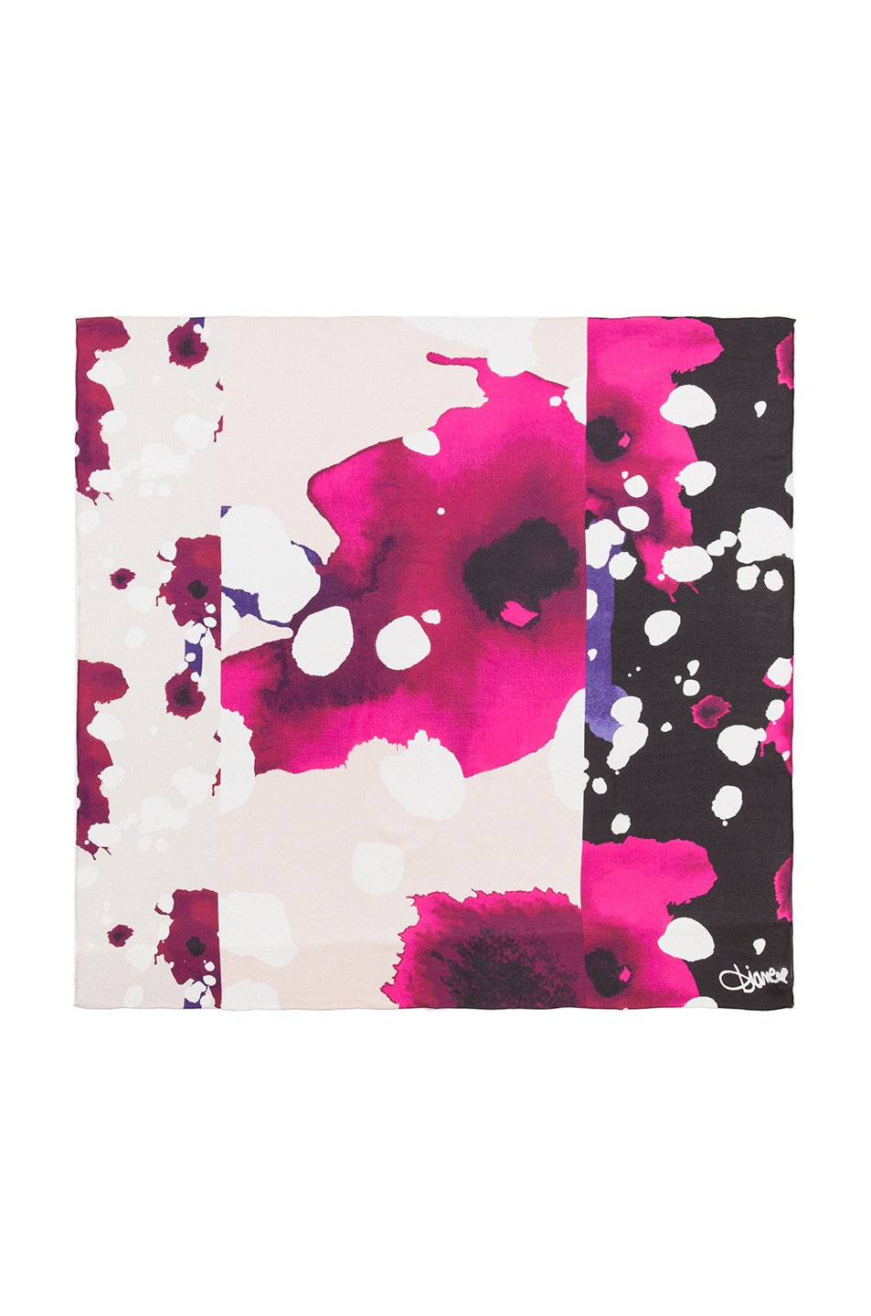Image 1 of Diane von Furstenberg Braden Scarf in Explosion of Color Pink