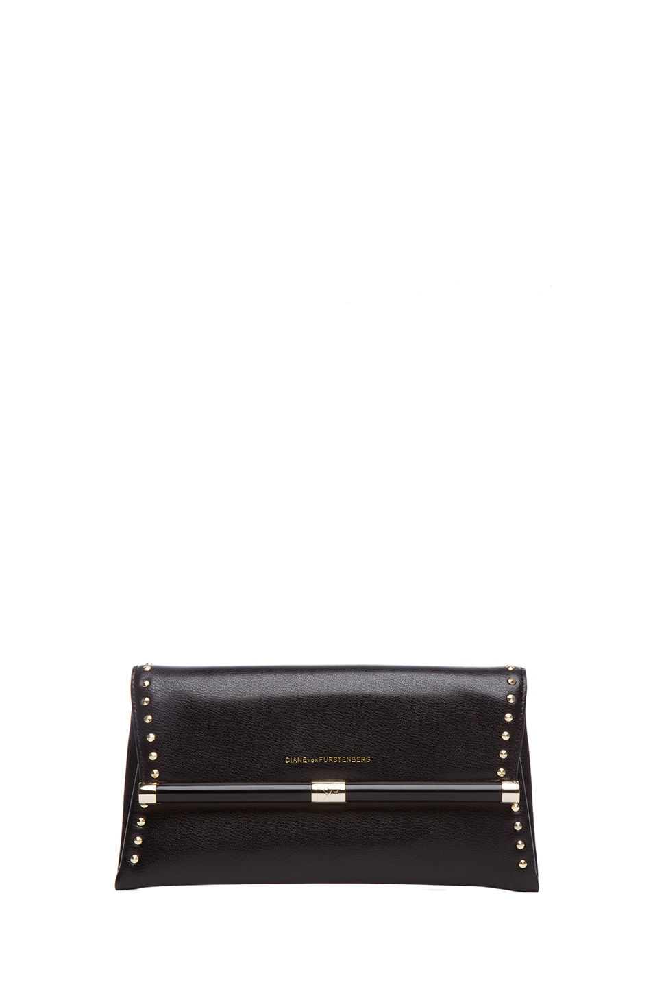 Image 1 of Diane von Furstenberg 440 Envelope Clutch in Black