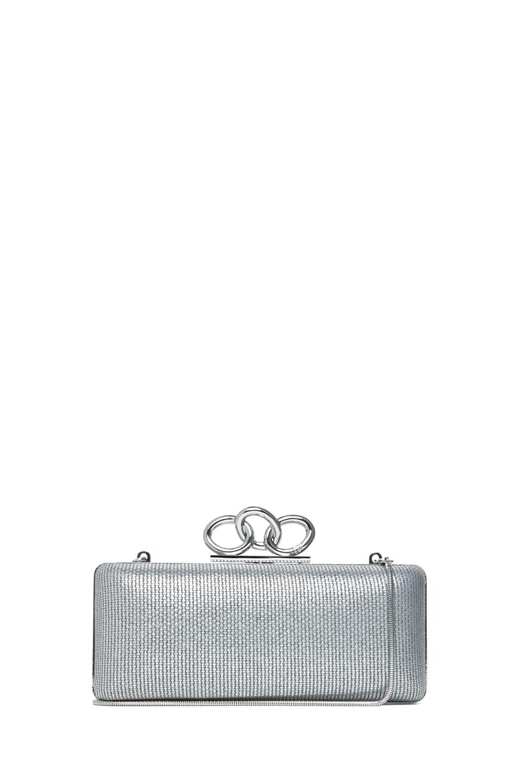 Image 1 of Diane von Furstenberg Sutra Metallic Canvas in Silver