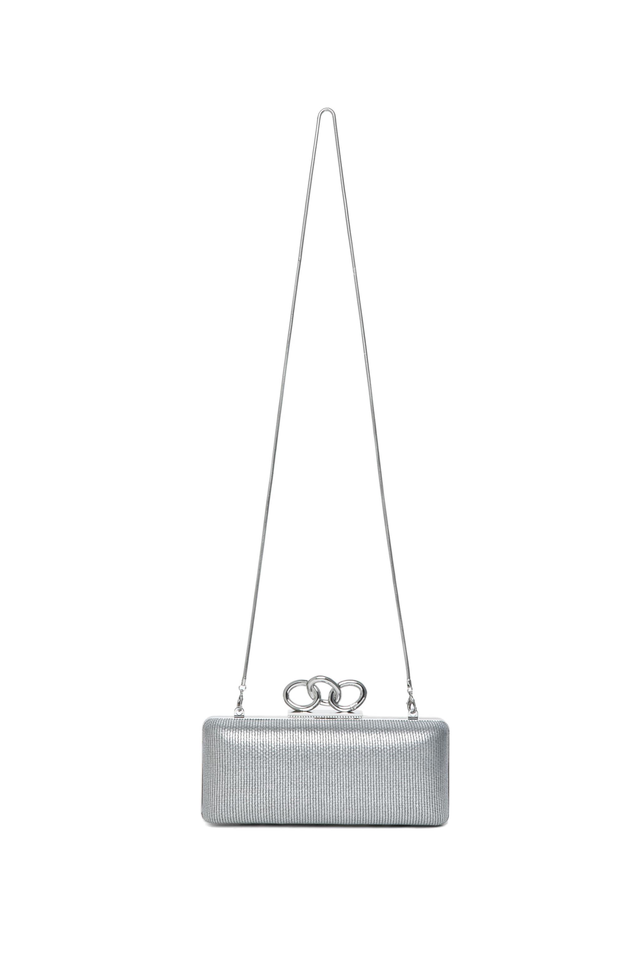 Image 5 of Diane von Furstenberg Sutra Metallic Canvas in Silver