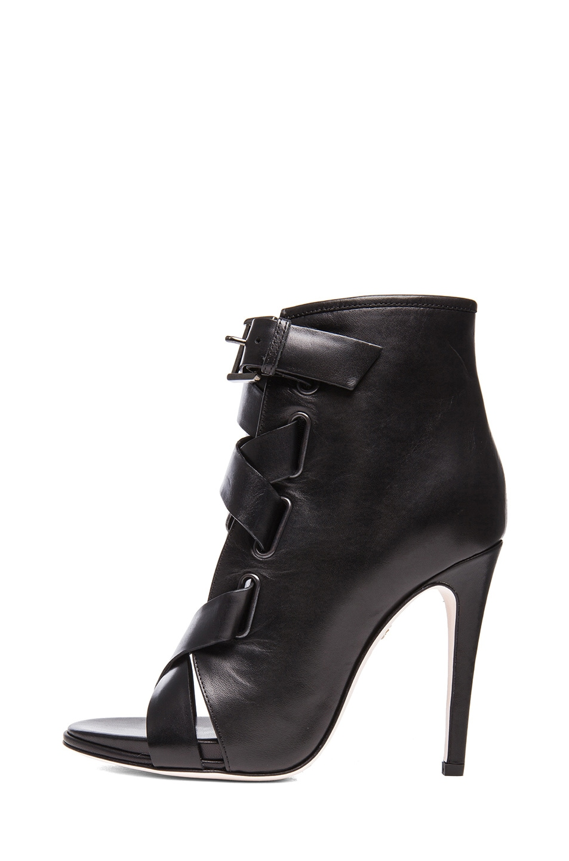 Image 1 of Diane von Furstenberg Radcliff Calfskin Leather Booties in Black