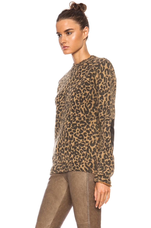 7c9cc2ac023e Image 2 of EACH x OTHER Leopard Print Alpaca-Blend Sweater in Camel & Black