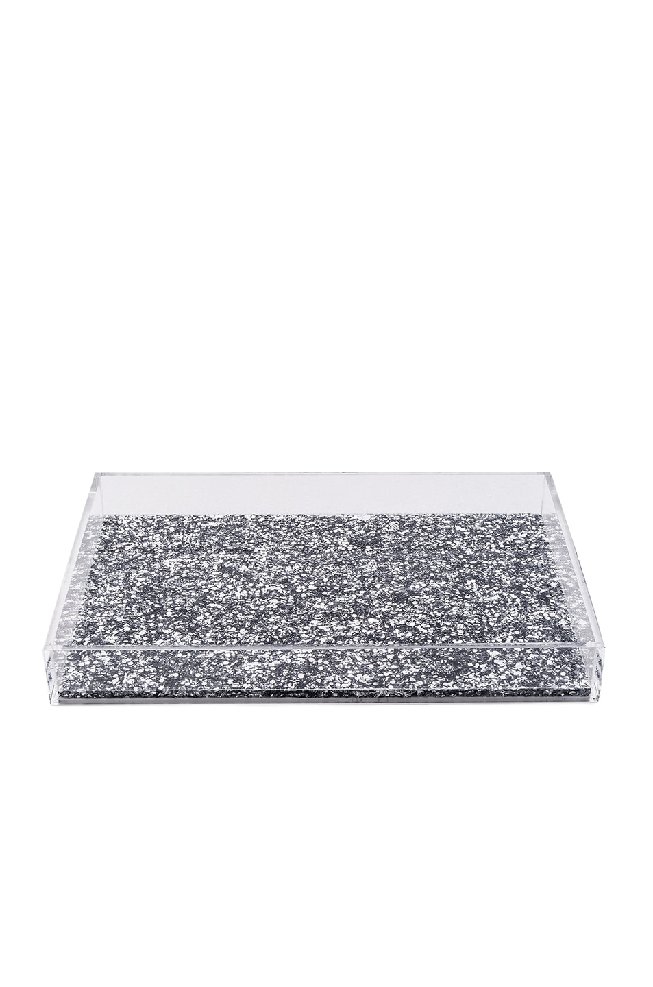 Image 1 Of Edie Parker Solid Vanity Tray In Silver Confetti