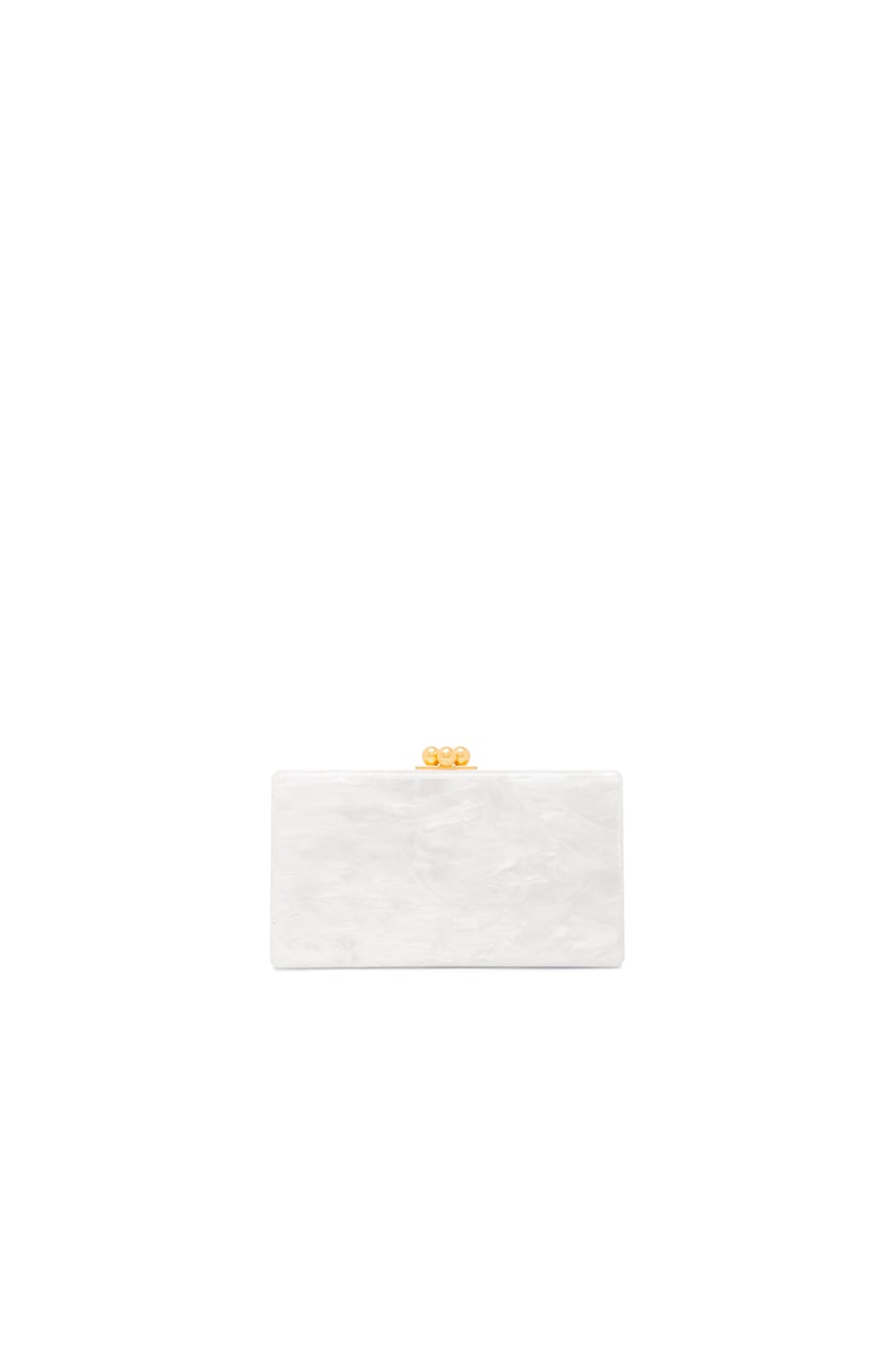 Image 3 of Edie Parker Jean Striped Clutch in White Multi