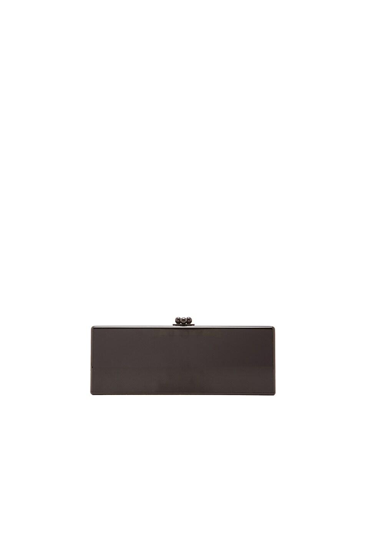 Image 3 of Edie Parker Flavia Panel Velvet Clutch in Black