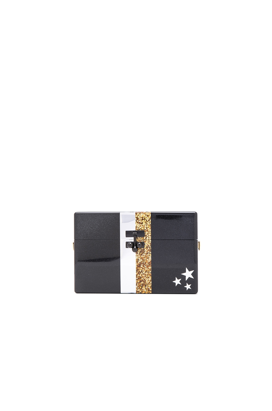 Image 1 of Edie Parker Small Vintage Trunk Clutch in Obsidian Multi