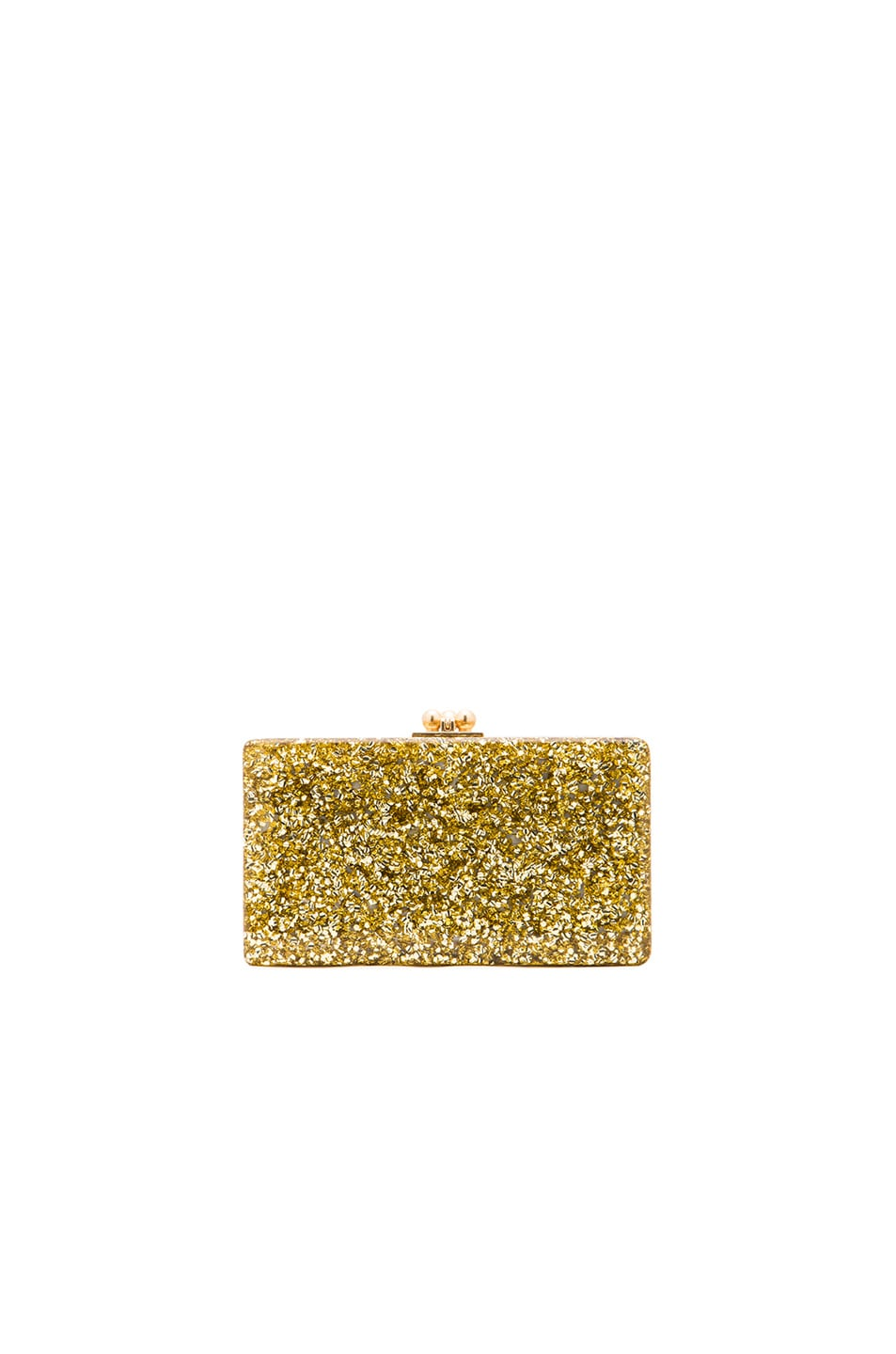 Image 1 of Edie Parker Jean Solid in Gold Confetti
