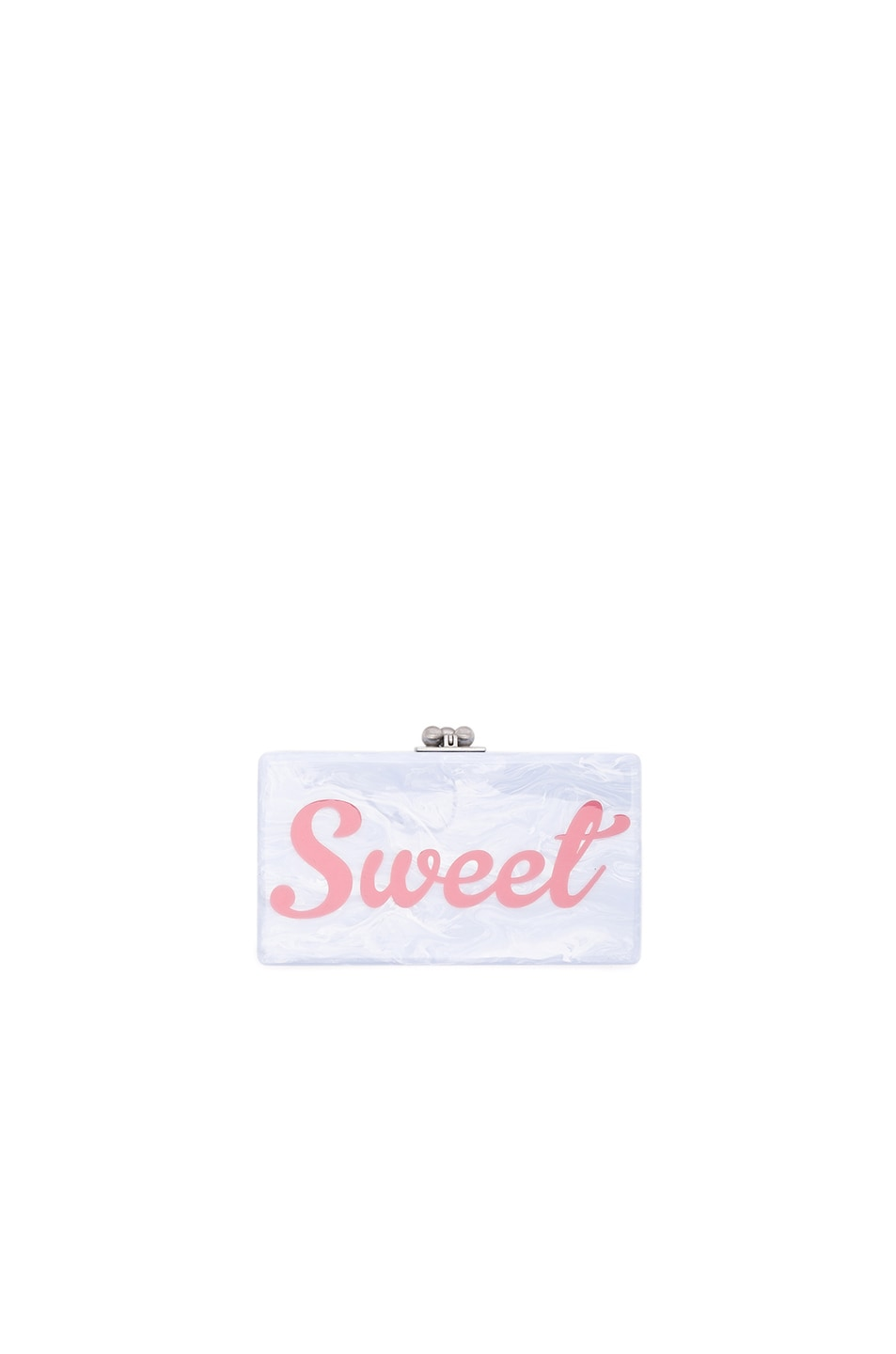 Image 1 of Edie Parker Jean Sweet Clutch in Blue Mist & Bubble Gum